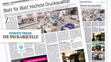 """Bericht in SÜDWEST PRESSE/DIE NECKARQUELLE"""""""